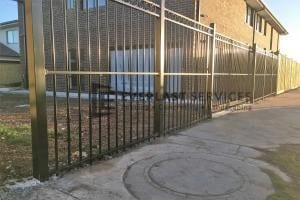 SF148 - Black Steel Fence