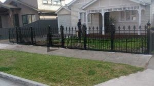 SF94 - Black Heritage Spear Steel Fencing - Strathmore