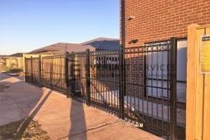 SF149 - Black Steel Front Fence