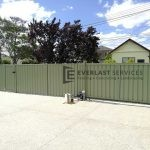 CB44 - Green Colourbond Sliding Gate