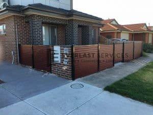 A92 - Front Slats Fence + Single Gate in Altona 2