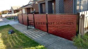A90 - Front Slats Fence + Single Gate in Altona