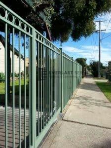 85- Green Steel Fencing