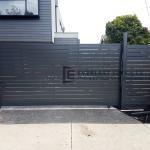 SG72 - Grey Slats Sliding Gate