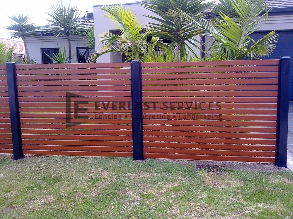Aluminium fencing melbourne metal slat fence quotes