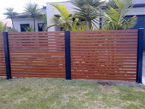Horizontal Modern Aluminum Slat Fence Everlast Services