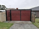 DG62 – Jarrah Slats Double Driveway Gate plus Single Side Entry Gate