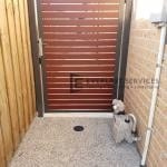 SS119 - Jarrah Slats Single Gate