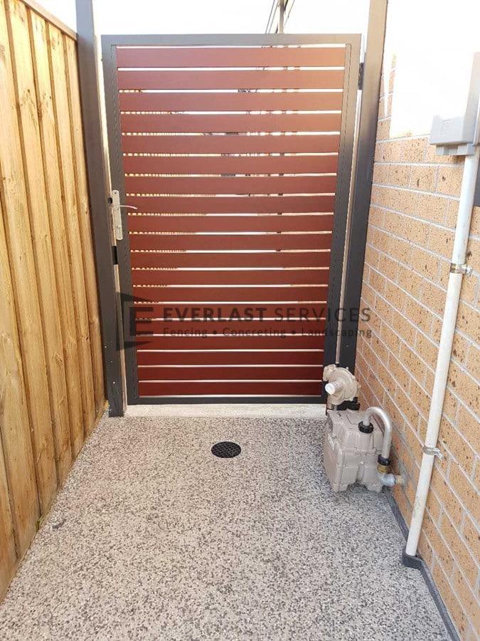 SS119 - Jarrah Slats Single Gate
