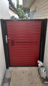 SS82 - Jarrah Slats Single Gate