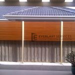 A41 - Privacy screen with primrose posts and western red cedar Slats - Werribee