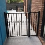 SF111 - Black Flat Top Single Gate