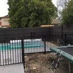 SF110 - Black Square Flat Top Swimming pool fence