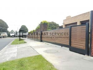 Side View of Kawila Slats Sliding Gate-r90-r80-r80