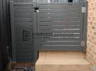 SS78 – Shale Grey Slats Single Gate with Mag Latch