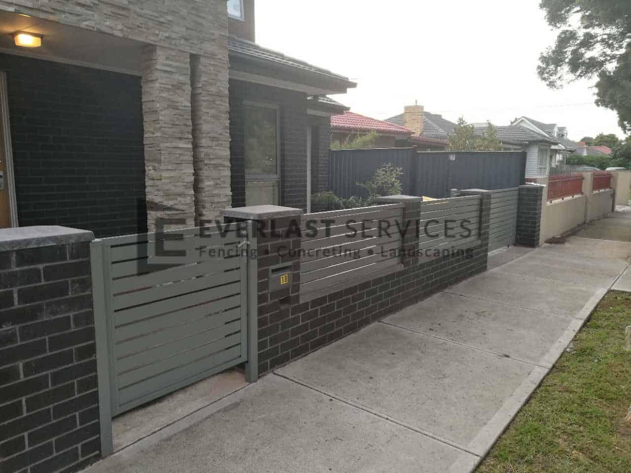 SG60 - Slats Sliding Gate + Fencing Infills