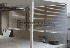 A57 - Surfmist Horizontal Privacy Slats Screening