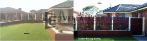 A42 -- Before and After View of Jarrah Slats Fencing