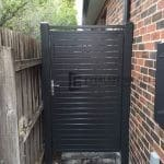 SS53 - Charcoal Slats Side Gate