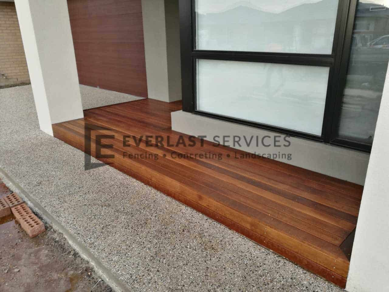 Timber Decking Front Entry