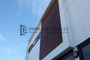 CF9 - Commercial Woodlook Slats Screening View 3