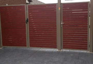 Aluminium Slats Double Single Gates