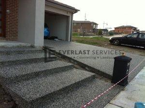 EA3 - Dark Exposed Concrete Steps
