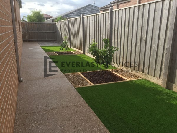 Backyard Turf Grass : house lawn gravel and landscaping l19 backyard lawn and landscaping
