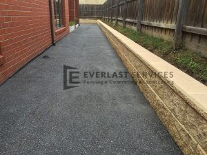 EA8 - Dark Exposed Aggregate Side of House