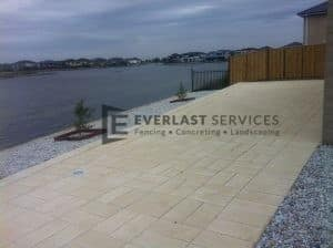 31 - Backyard landscaping and paving