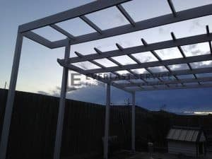 L46 - White See Through Pergola