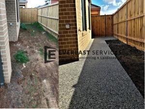 EA37 - Backyard Concrete Before and After