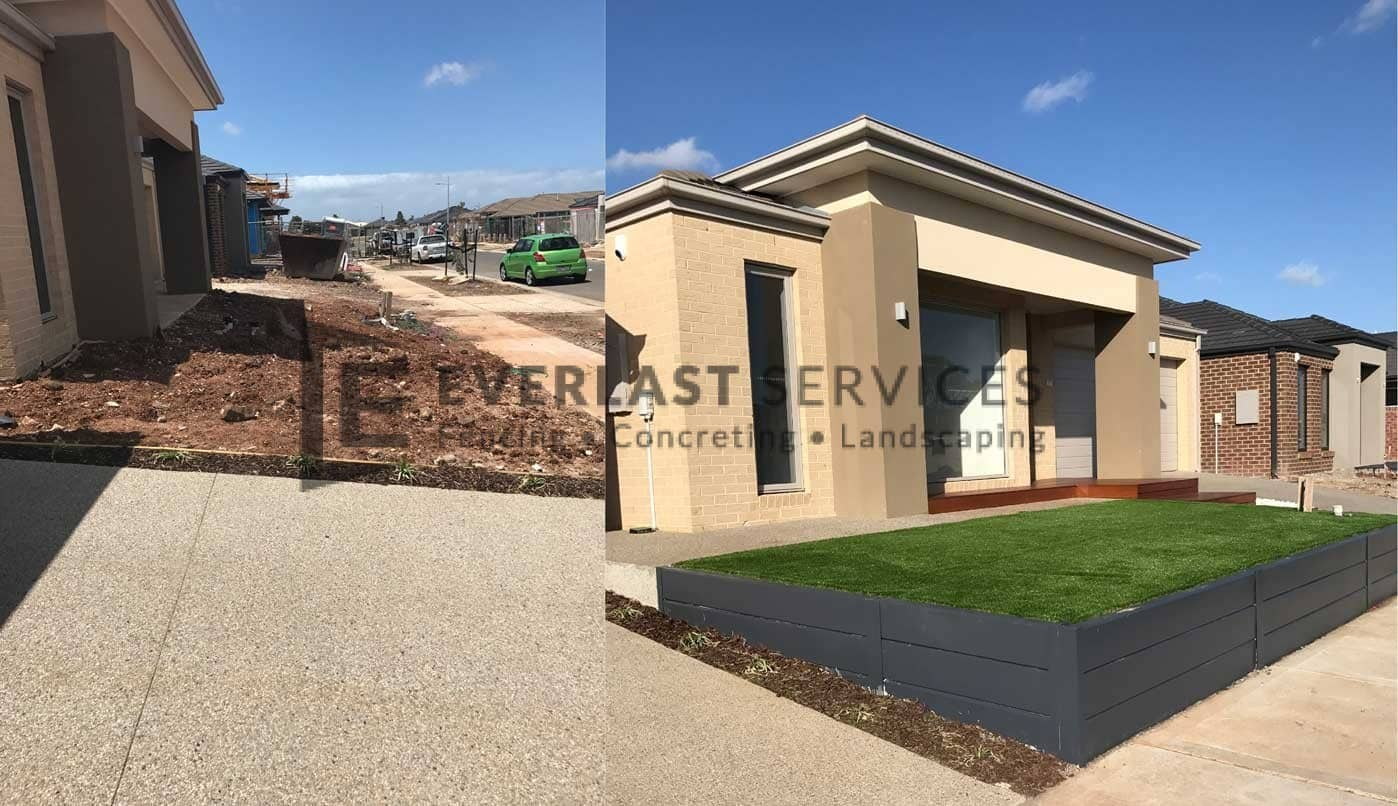 L60 - Concrete Retaining Wall + Synthetic Grass