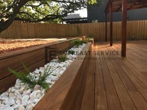 L65 - Black Butt Decking, Garden Box