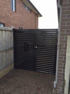 A50 - Charcoal slats double gate