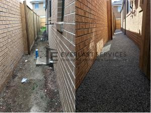 EA38 - Footpath Before and After Exposed Aggregate