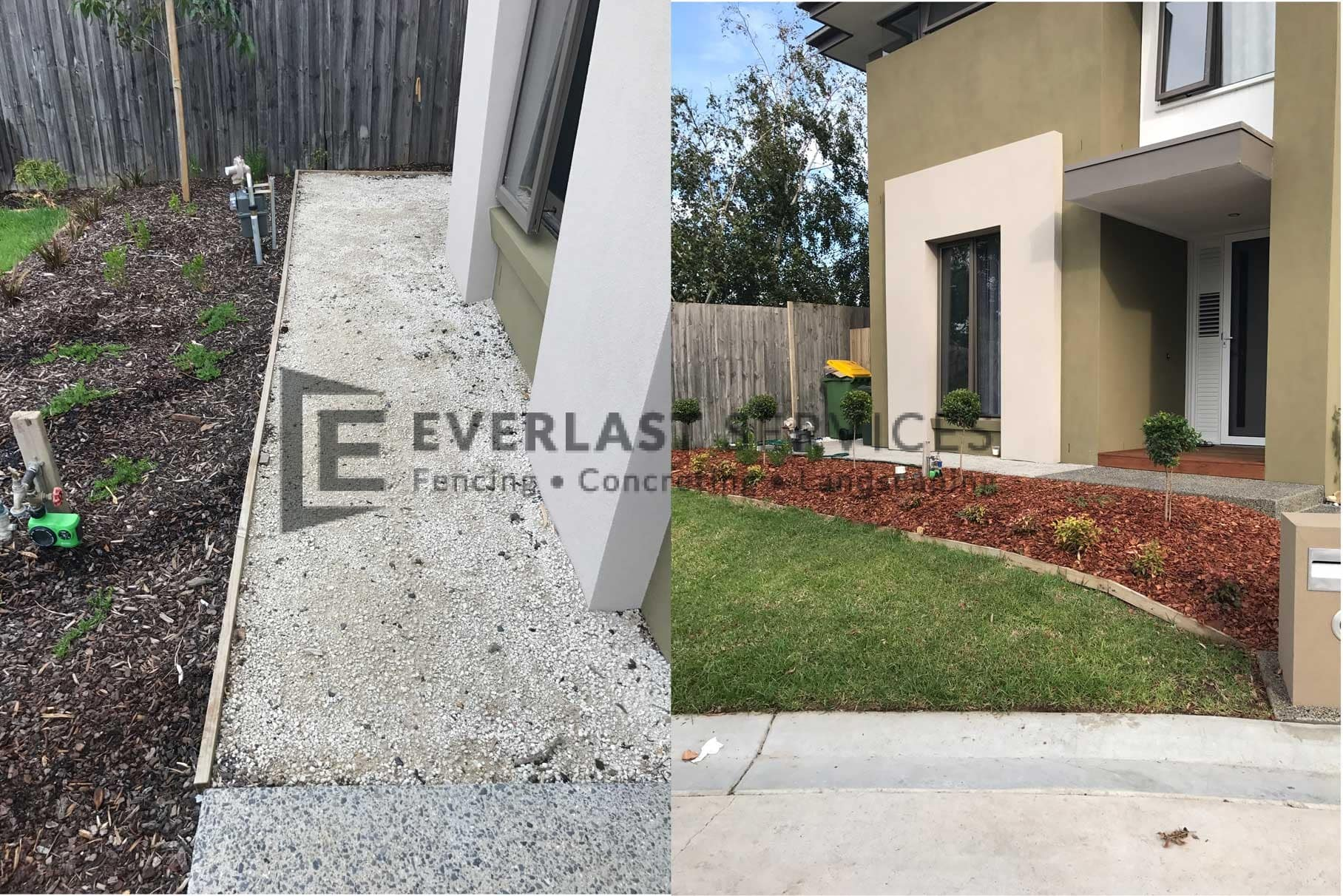 L75 - Front Landscaping Before and After