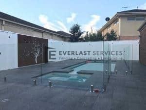 T80 - Glass Pool Fencing + Swimming Pool + Modular Walls