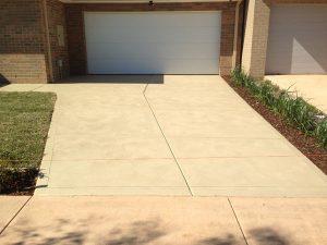Sand Colour Concrete Driveway