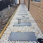 L113 - Stepping Stone White Pebbles Landscaping