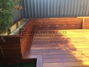 T39 - Raised Merbau Planter Boxes