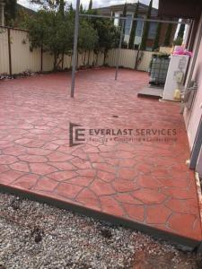 ST15 - Backyard Stencil Concrete