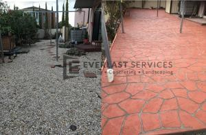 ST14 - Before and After Stencil Concrete