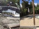 STE6 – Bushrock Stencil Concrete around Pool Before and After