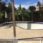 STE6 - Bushrock Stencil Concrete around Pool