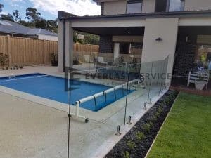 GF8 - Glass Pool Fencing + 1 x Custom Panel