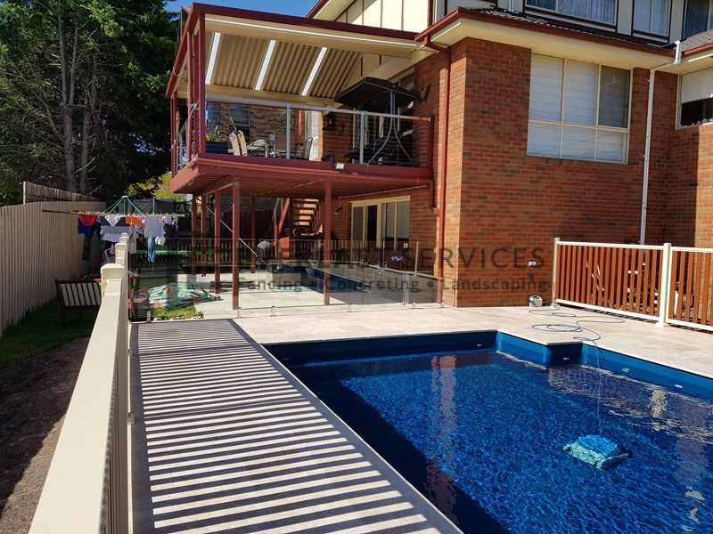 GF14 - Inground Pool Glass Fencing