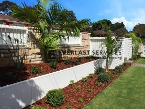 MW 21 - Front Garden Retaining Wall with Plants