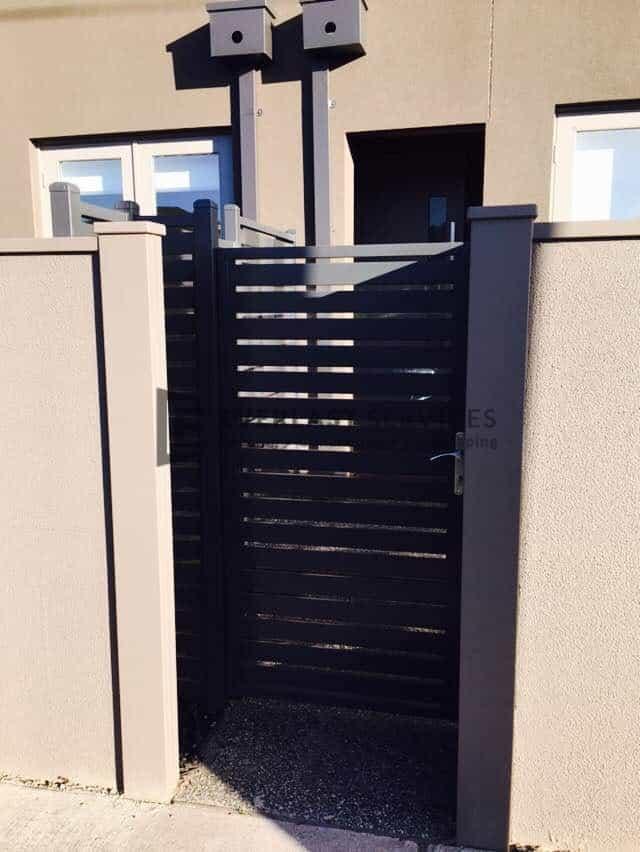 SS111 - Aluminium Slats Single Entry Gate