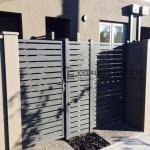 SS110 - Aluminium Slats Single Gate And Panel